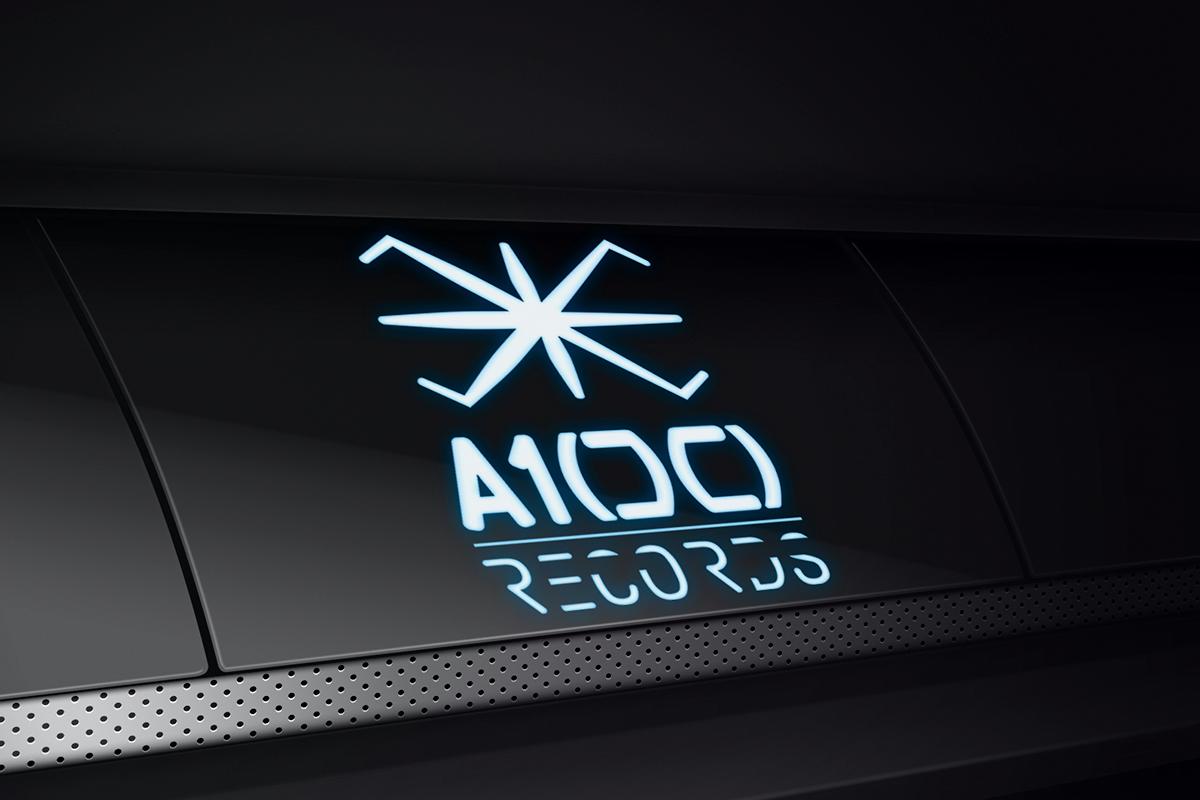 Branding A100 Records - Aplicación 3D de marca